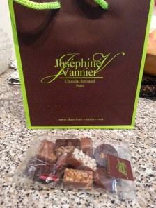 Les chocolats de Joséphine Vannier.