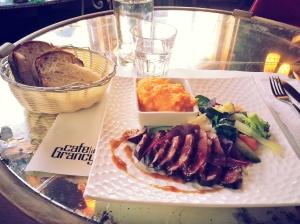 Le déjeuner de 29 euros à Lausanne, Suisse (jan 2016).