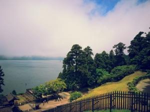 La vue du lac.